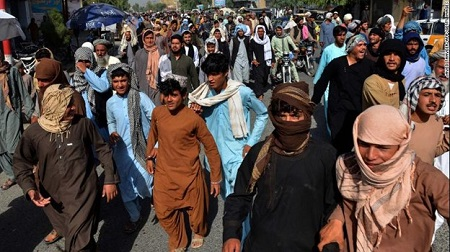 Afghans Protest Taliban Evictions