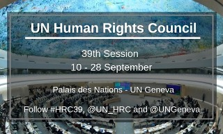 Side event at Human Rights Council 39th session